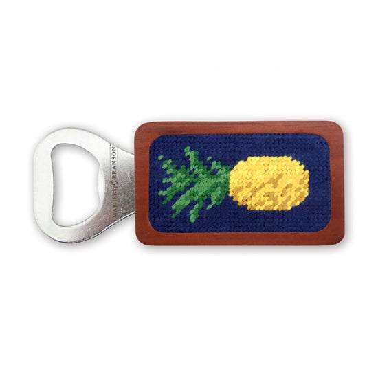 Pineapple Needlepoint Bottle Opener