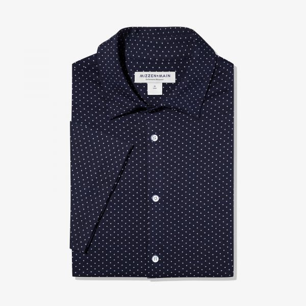 Classic Fit White Dot Shirt