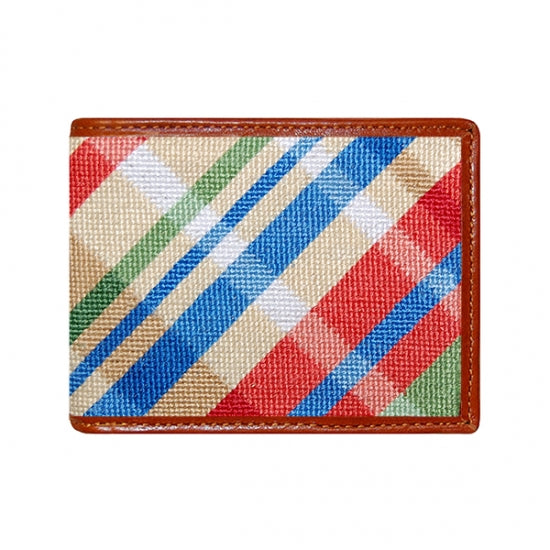 Madras Needlepoint Bi-Fold Wallet
