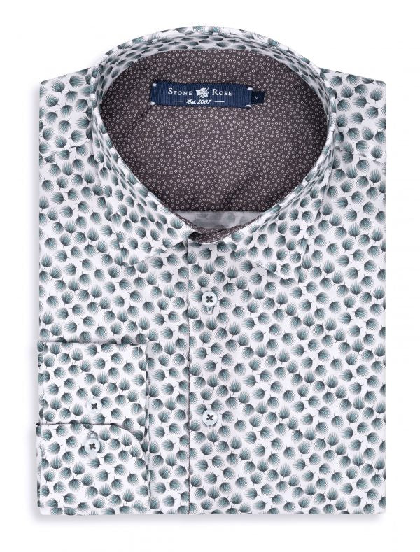 White Novelty Print Shirt