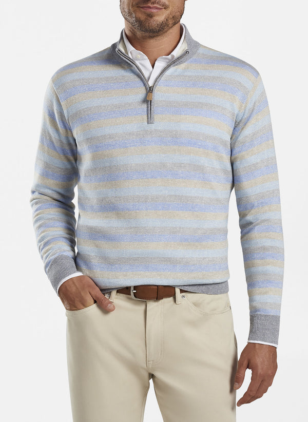 Crown Cool Striped Quarter-Zip Sweater