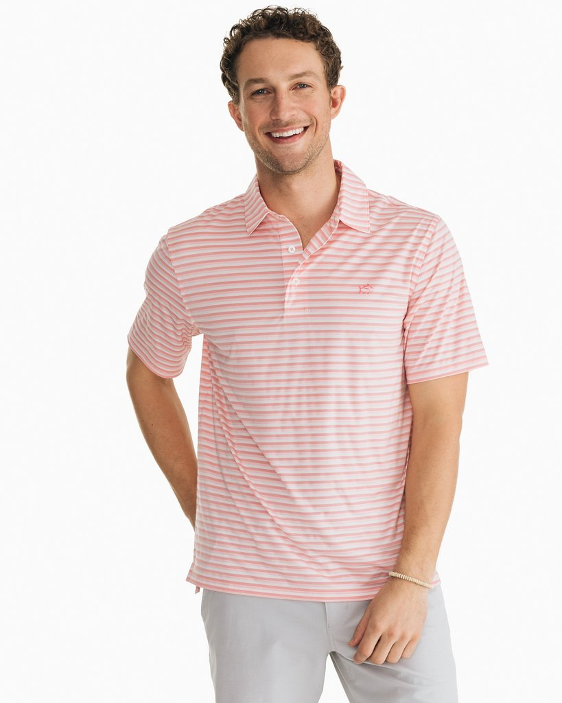 Driver Striped Performance Polo