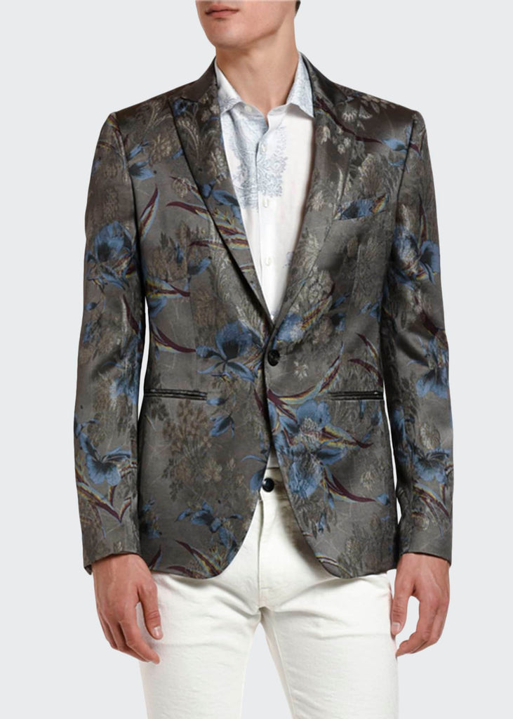 Palm Tree Metallic Dinner Jacket