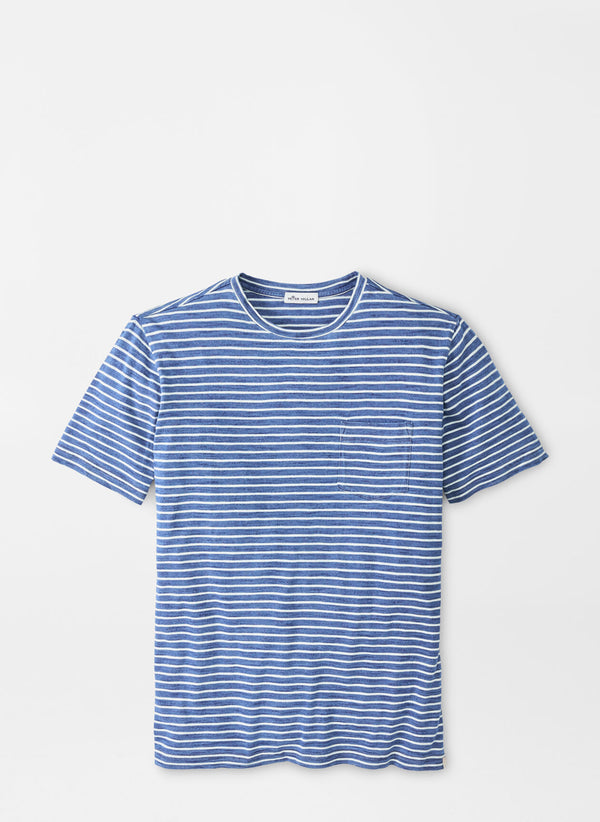 Indigo Cotton Pocket Tee