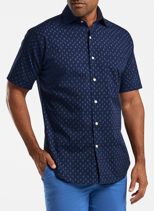 Raise The Reef Cotton-Blend Sport Shirt