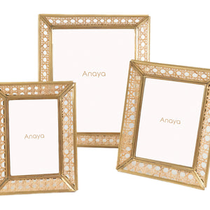 Natural Cane Wicker Picture Frame 5x7