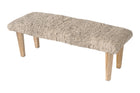 Handwoven Textured Taupe Bench