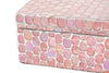 Iridescent Pink Mosaic Glass Decor Box - Anaya Home