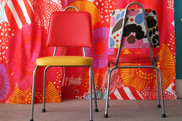 Citrus Dining Chairs with Multi Coloured backs