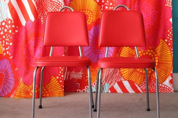 Orangey Red Dining Chairs