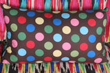 Large Spots on Brown Cushion Cover - 50cm x 30cm