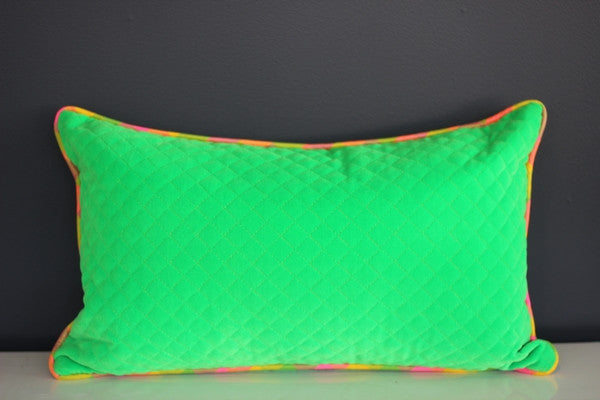 Quilted Fluorescent Cushion Cover - 50cm x 30cm