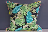 Jungle Greens piped in Tropical Colours - 50cm x 50cm