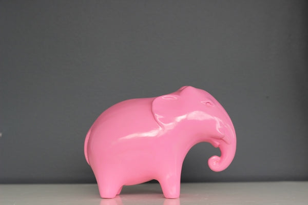 Ceramic Elephant in Baby Pink
