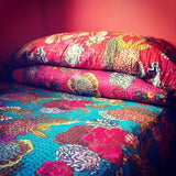 Kantha Throw in Red