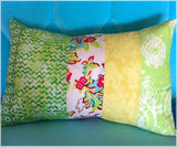 Rectangle Cushion in Greens - 50cm x 30cm