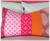 Rectangle Cushion in Pinks - 50cm x 30cm