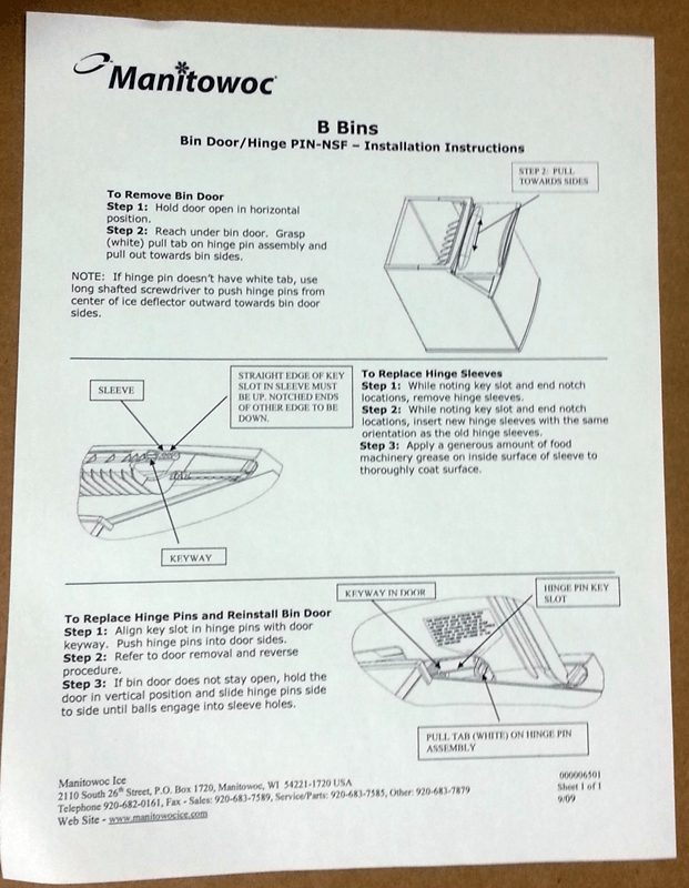 Manitowoc Ice Machine Parts Diagram