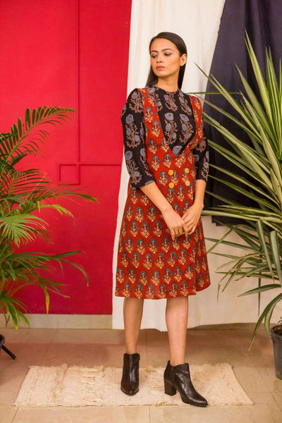 Long top with a short dress- set of 2 - Label Raasleela