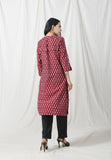 Brown easy fall ikkat kurta - Label Raasleela