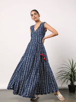 Indigo Anarkali dress - Label Raasleela