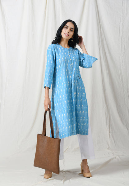 Light blue easy fall tunic