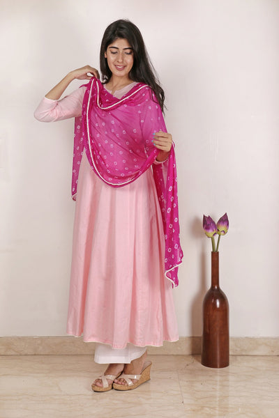 Pretty in Pink Anarkali Set - Label Raasleela