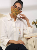 SUNNY - Reversible Cotton Face Mask with elastic and foam - Label Raasleela