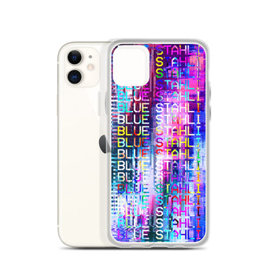Blue Stahli Technicolor Glitch iPhone Case