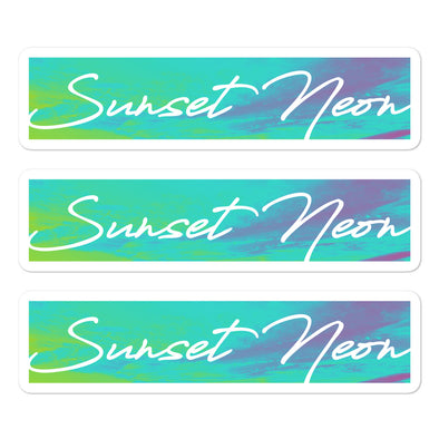 Sunset Neon Neowave Script Stickers (Set of 3)