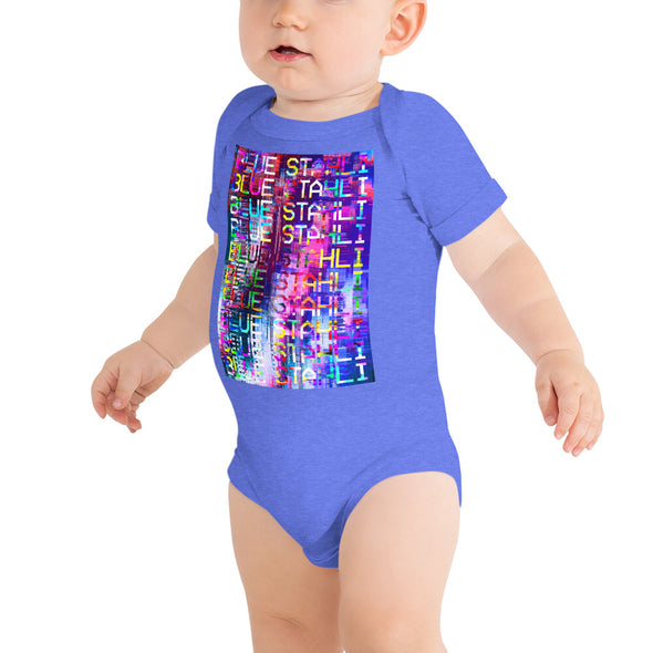 Blue Stahli Technicolor Glitch Onesie T-Shirt