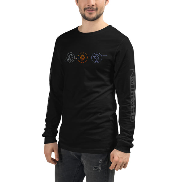 Blue Stahli deadchannel_ Trilogy Unisex Long Sleeve Tee