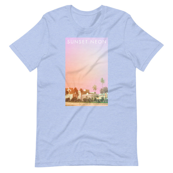 Sunset Neon Palms Unisex T-Shirt