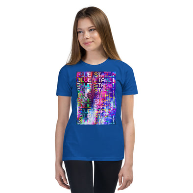 Blue Stahli Technicolor Glitch Youth T-Shirt
