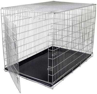 Small Steel Wire Metal Folding Fold Up Pet Animal Dog Crate Cage Pen Pin Kennel
