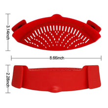 Load image into Gallery viewer, Clip-On Silicone Colander, 1 Size Fits ALL!