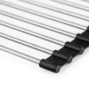 Stainless Steel Folding Drying Mat, 20.2x15.5 inches.
