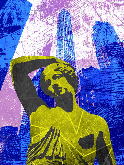 Digital Art Image for Licensing - Pop Art New York City Scene