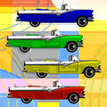 Retro Classic Car Pop Art Poster