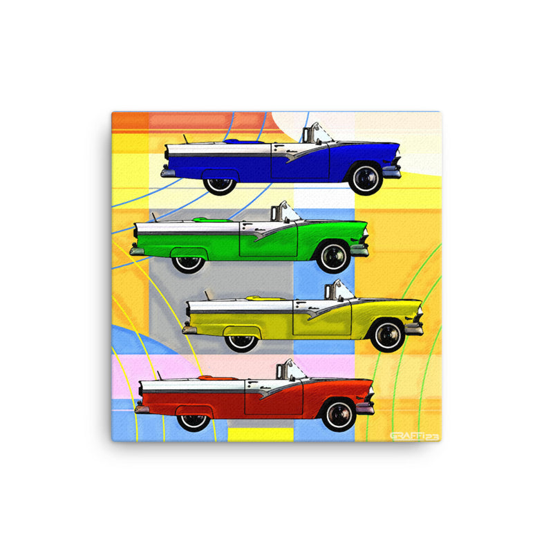 RETRO CLASSIC CARS -  Pop Art on Canvas