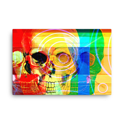 SKULL ART - POP ART PRINT ON CANVAS