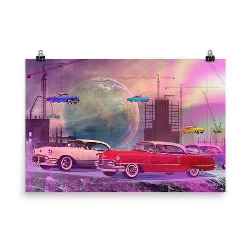 MOTOR CITY GHOSTS - Pop Surrealism Art Poster