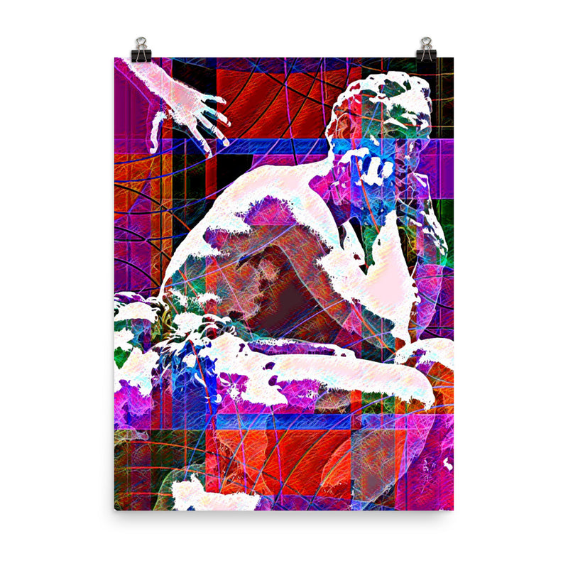 UGOLINO ABSTRACTION - Pop Surrealism Art on high quality photo poster paper