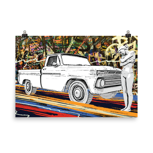 "PICKUP LADY - 24"" x 36"" ART PRINT POSTER"