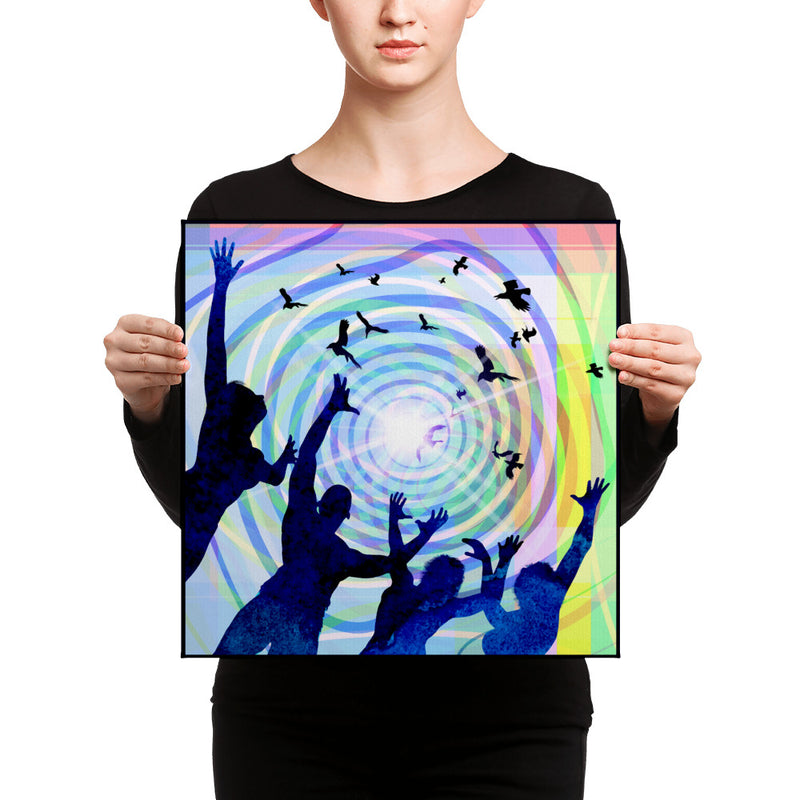 Art Canvas Print titled Fly Away Freebird by Artist Forlenza