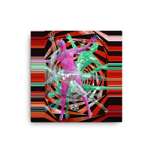 Spiraling Through the Wormhole - Canvas Print