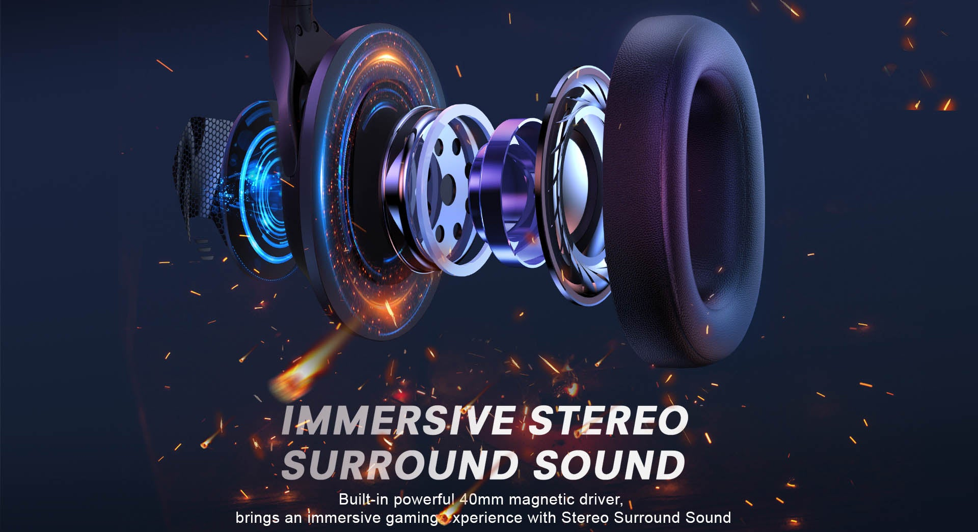 Air Joy Ultralight Gaming Headset Stereo Sound
