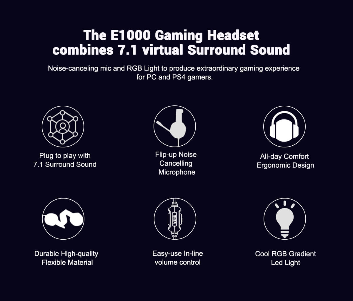 EKSA E1000 USB gaming headset