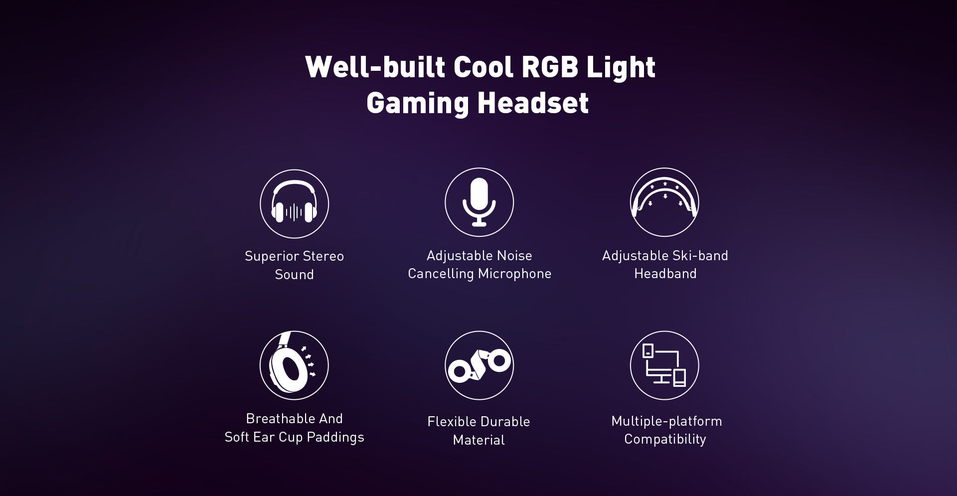 E3000 Gaming Headset is a sturdy and well-built headset with cool RGB light for PC video gamers.