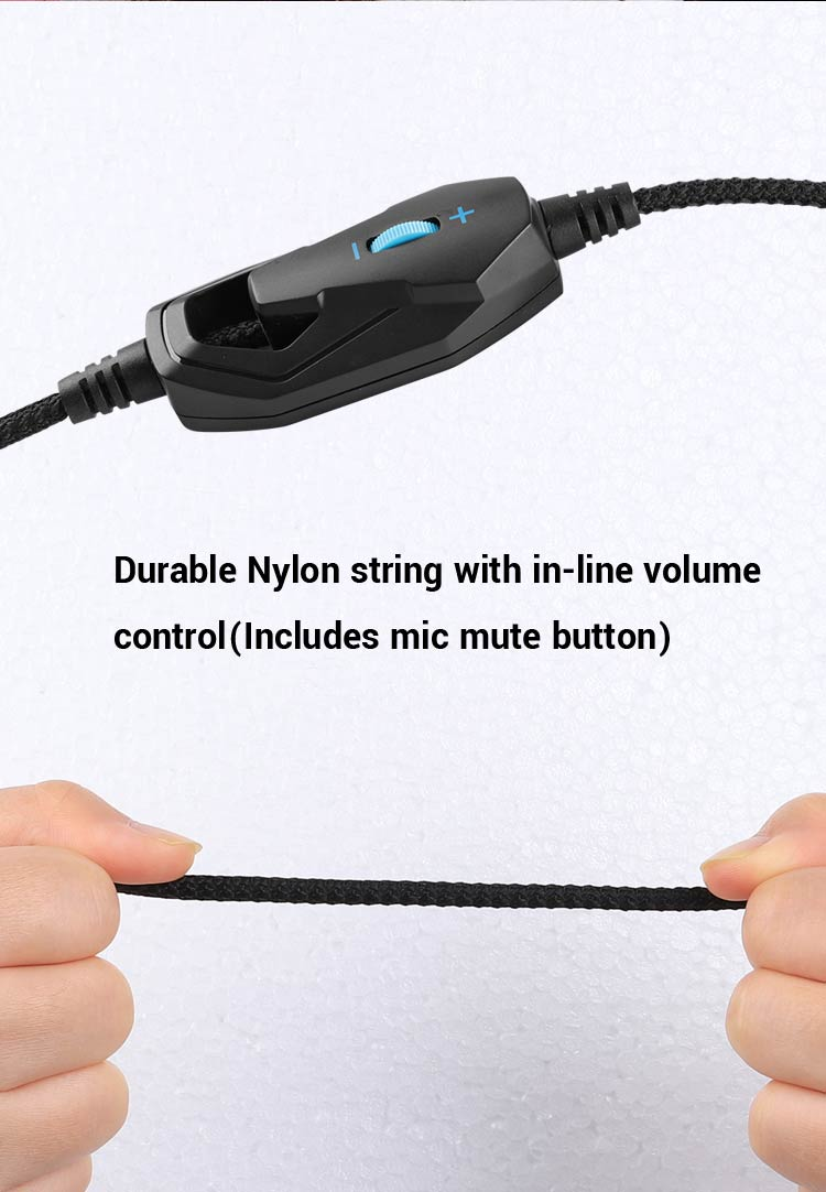 Durable Nylon string with in-line volume control-mobile